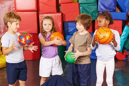 Students playing in PE - Classroom Management