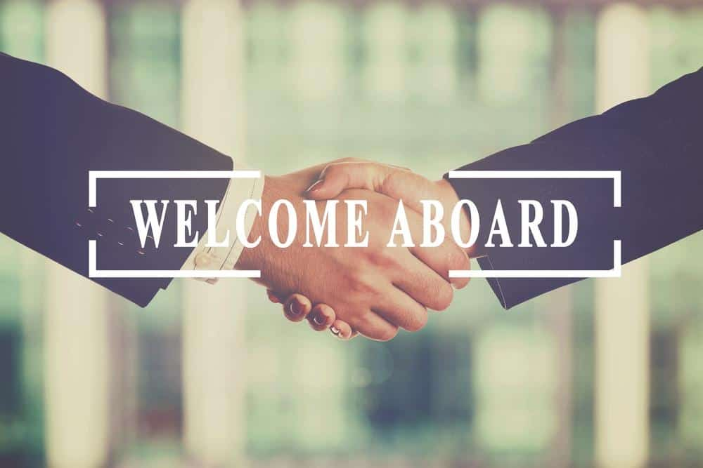 Welcome Aboard Sign - PE Funding