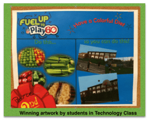 Fuel up to play 60 sign - School Wide Wellness