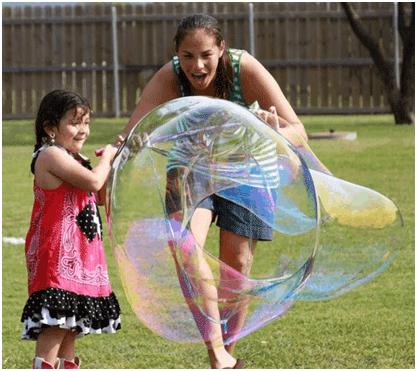Student making large bubble 1