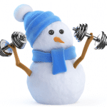 Snowman Lifting Weights - Holiday Themed Fitness Stations