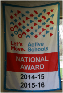 Banner for Lets Move Active Schools National Award