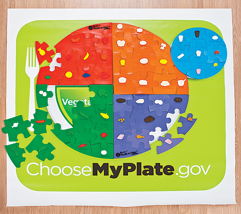 Nutrition games MyPlate Puzzle