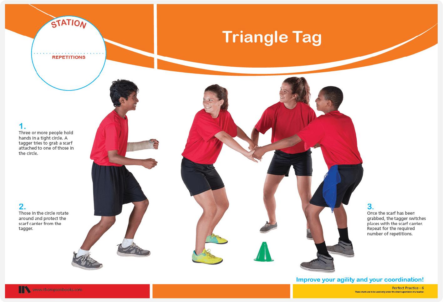 Triangle tag fun PE games
