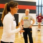 Maria Corte providing physical education teaching tips