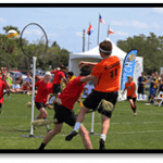 Students playing Quidditch territorial game