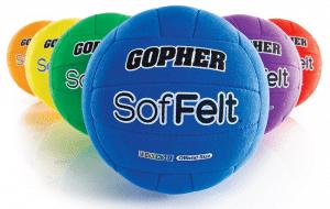 Rainbow SofFelt Volleyballs