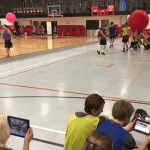 Students using technology during Strategy Sideline