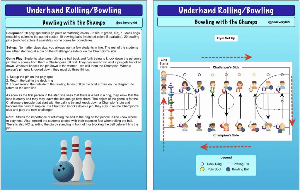 bowling PE game
