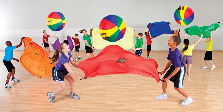g 83945 rainbow elevair nylon parachutes set